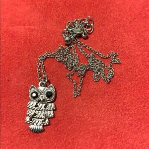 Jewelry - Silver and Black Owl Necklace